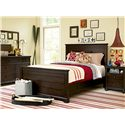 Smartstuff Guys Full Panel Board Bed - Shown with Nightstand, Dresser Drawer & Vertical Mirror