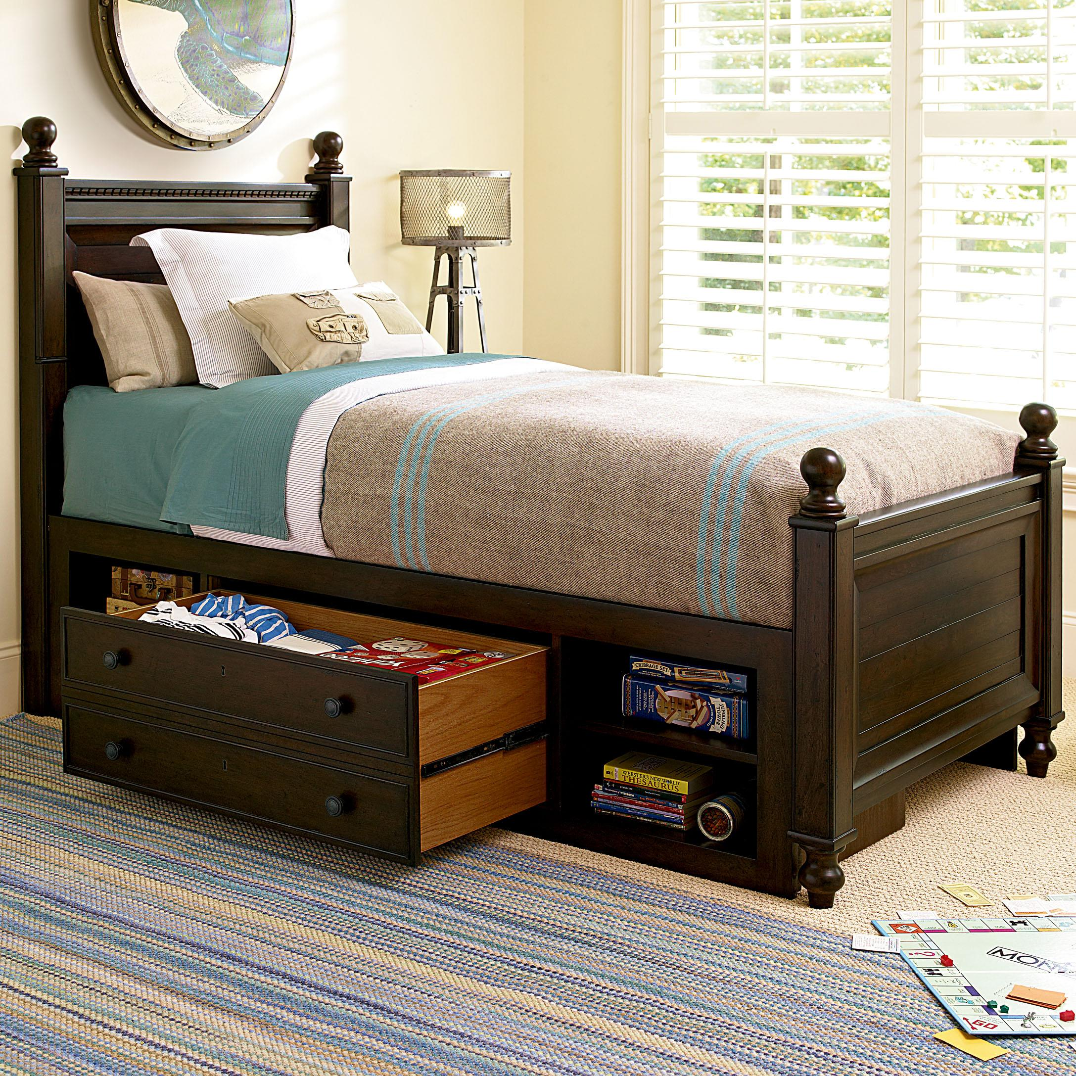 paula deen bedroom furniture pine valley s reading low post bed with underbed 16631