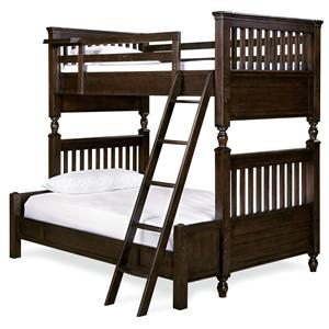 Morris Home Furnishings Pine Valley Pine Valley Twin/Full Bunk Bed