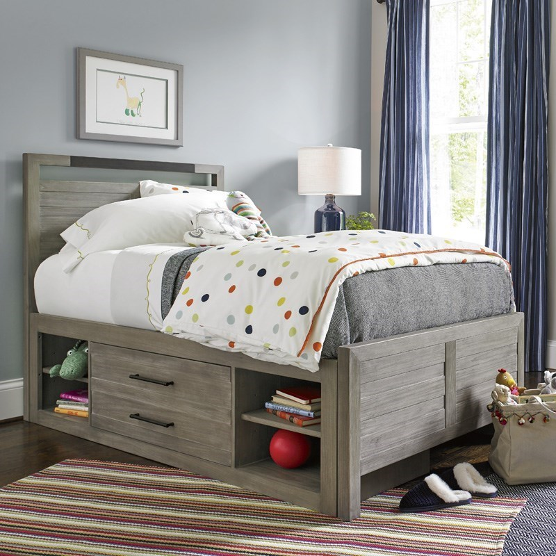 Twin Panel Bed with Storage Unit