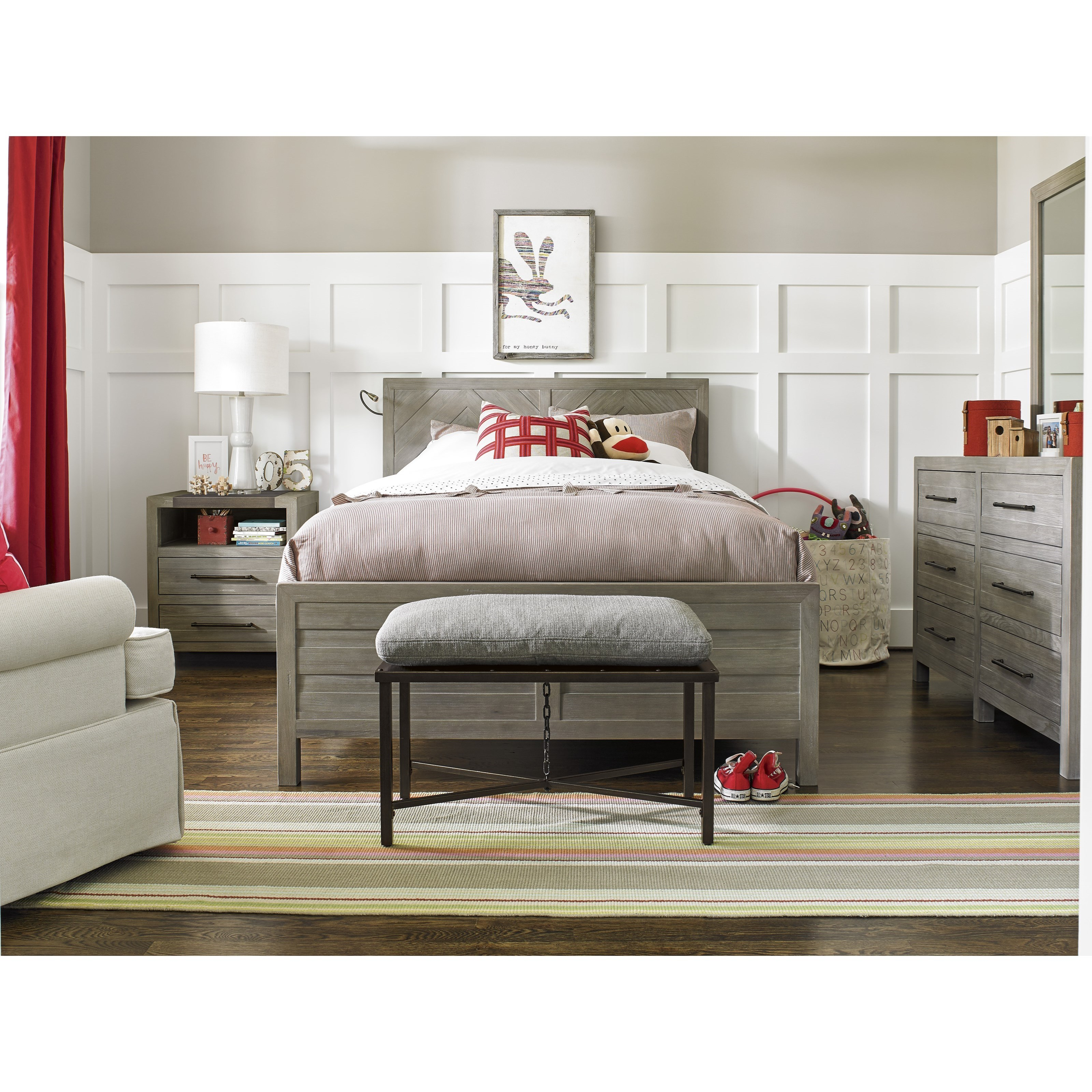 Smartstuff Scrimmage Full Reading Bed With Snake Light