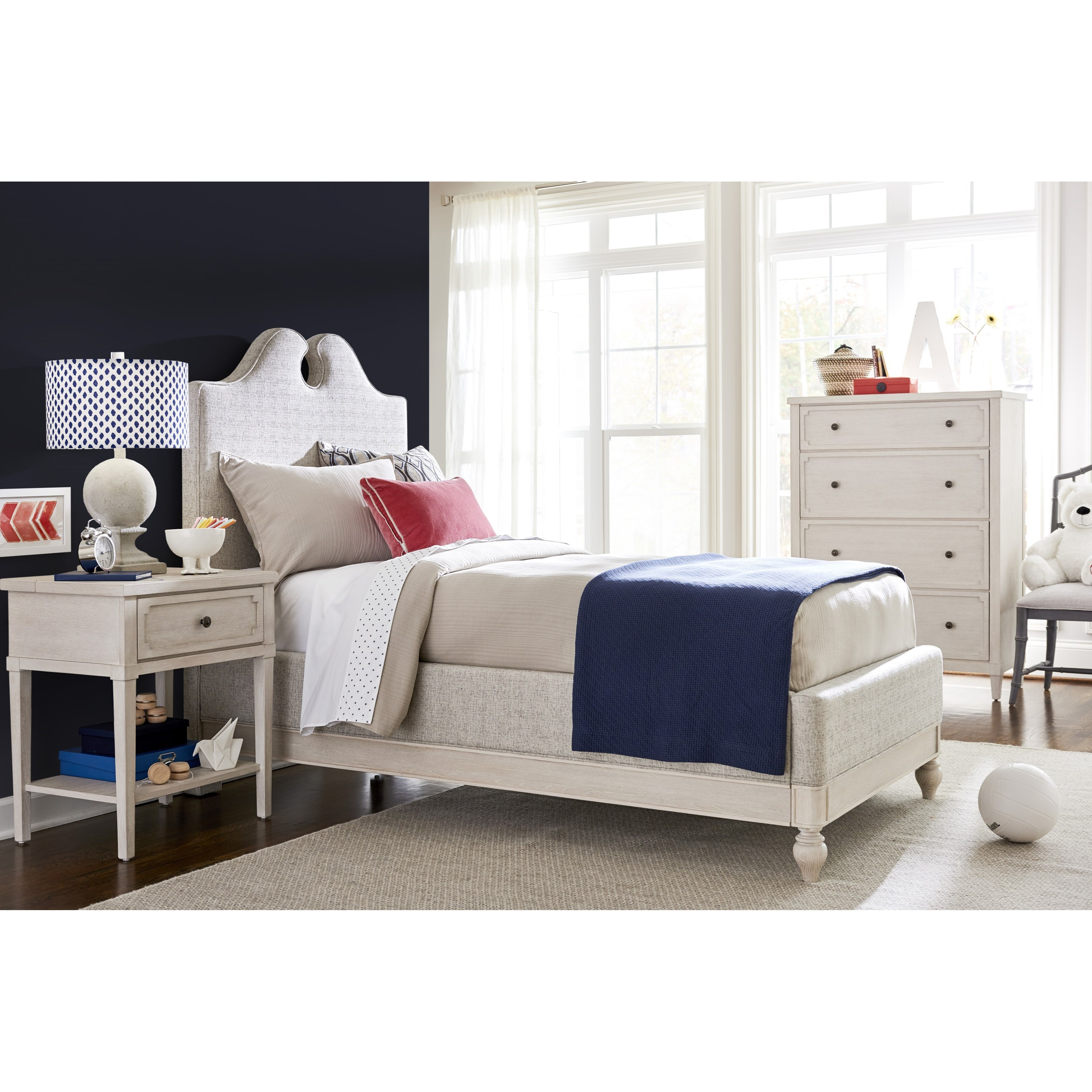 Twin Upholstered Bedroom Group