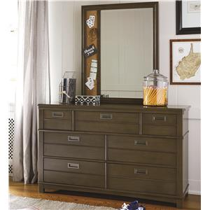 Morris Home Furnishings Varsity Dresser and Mirror Set