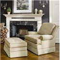 Smith Brothers 971 Upholstered Chair - Shown with Ottoman