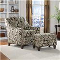 Smith Brothers 201 Style Group Chair and Ottoman - Item Number: 201-30+40