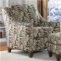 Smith Brothers 201 Style Group Contemporary Chair and Ottoman Set with Nail Head Trim