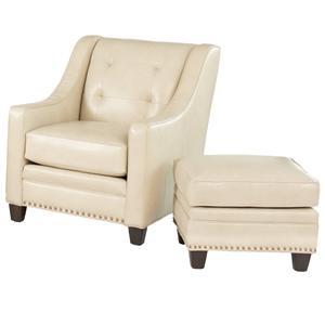 Smith Brothers 203L Transitional Chair with Ottoman