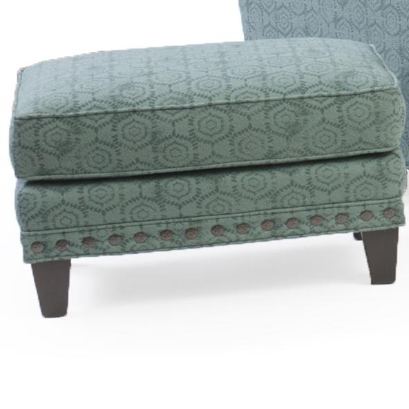 227 Upholstered Ottoman by Smith Brothers at Saugerties Furniture Mart