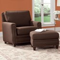 Smith Brothers 231 Chair and Ottoman Set - Item Number: 231-30+40-298603
