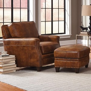 Smith Brothers 231 Chair and Ottoman Set