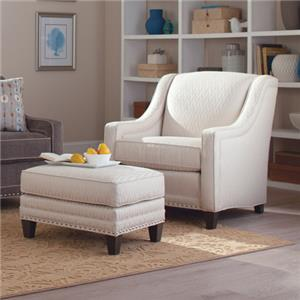 Smith Brothers 233 Chair and Ottoman Set