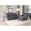 Smith Brothers 234 Traditional Mid-Size Sofa with Rolled Panel Arms and Nailhead Trim