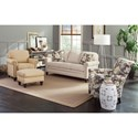 Smith Brothers 234 Traditional Mid-Size Sofa with Rolled Panel Arms and Nailhead Trim - Group Shown with 961 Accent Chair