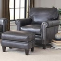 Smith Brothers 234 Chair and Ottoman Set - Item Number: 234-30+40-3220