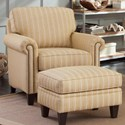 Smith Brothers 234 Chair and Ottoman Set - Item Number: 234-30+40-379507