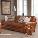 Smith Brothers 235 Traditional Sofa with Nailhead Trim and Rolled Arms - Leather Shown is No Longer Available