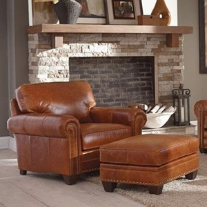 Smith Brothers 235 Chair and Ottoman