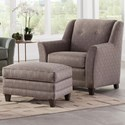 Smith Brothers 236 Chair and Ottoman Set - Item Number: 236-30+40-378414