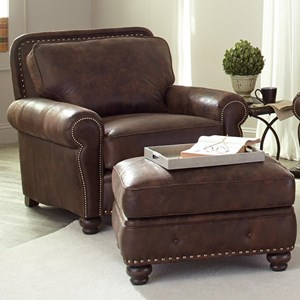 Smith Brothers 237 Chair and Ottoman Set