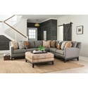 Smith Brothers 238 Sectional Sofa - Item Number: 238-14+22-393014