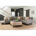 Peter Lorentz 238 Sectional Sofa - Item Number: 238-14+22-393014