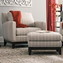 Smith Brothers 238 Chair and Ottoman Set - Item Number: 238-30+40-392707