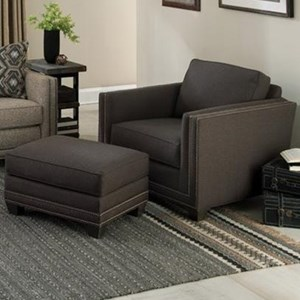 Smith Brothers 240 Chair and Ottoman Set