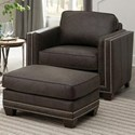 Smith Brothers 240 Chair and Ottoman Set - Item Number: 240L-30+40-9210
