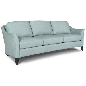 Smith Brothers 256 Transitional Sofa With Flare Tapered