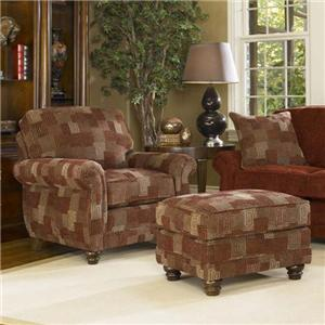 Smith Brothers 302 Chair & Ottoman