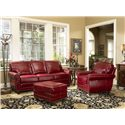 Smith Brothers 302 Chair & Ottoman - Shown with sofa