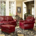 Smith Brothers 302 Upholstered Chair - Shown with ottoman