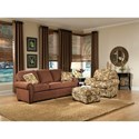 Smith Brothers 309 Upholstered Ottoman - Shown with Sofa & Chair.