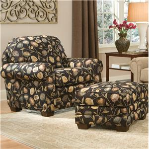 Smith Brothers 310 Chair & Ottoman