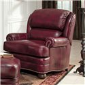 Smith Brothers 311 Leather Upholstered Chair and Ottoman