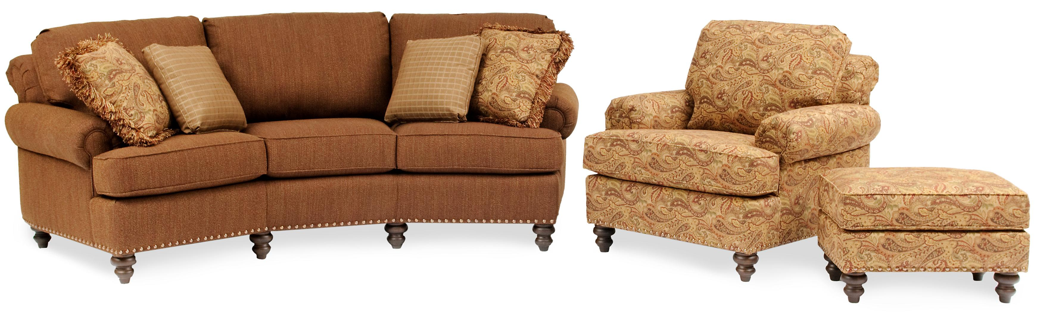 Smith Brothers 324 Curved Conversational Sofa With