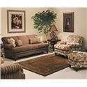 Smith Brothers 346 Traditional Styled Chair and Ottoman Set - Shown with Coordinating Collection Sofa