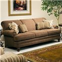 Smith Brothers 346 Upholstered Stationary Sofa - Item Number: 346-S-F