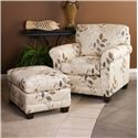 Smith Brothers 365 Casual Stationary Chair - Shown with Ottoman