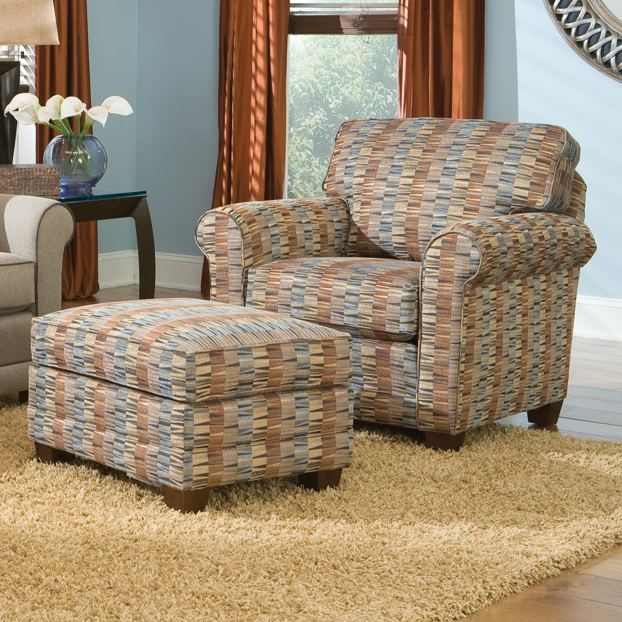 366 Casual Chair and Ottoman by Smith Brothers at Mueller Furniture