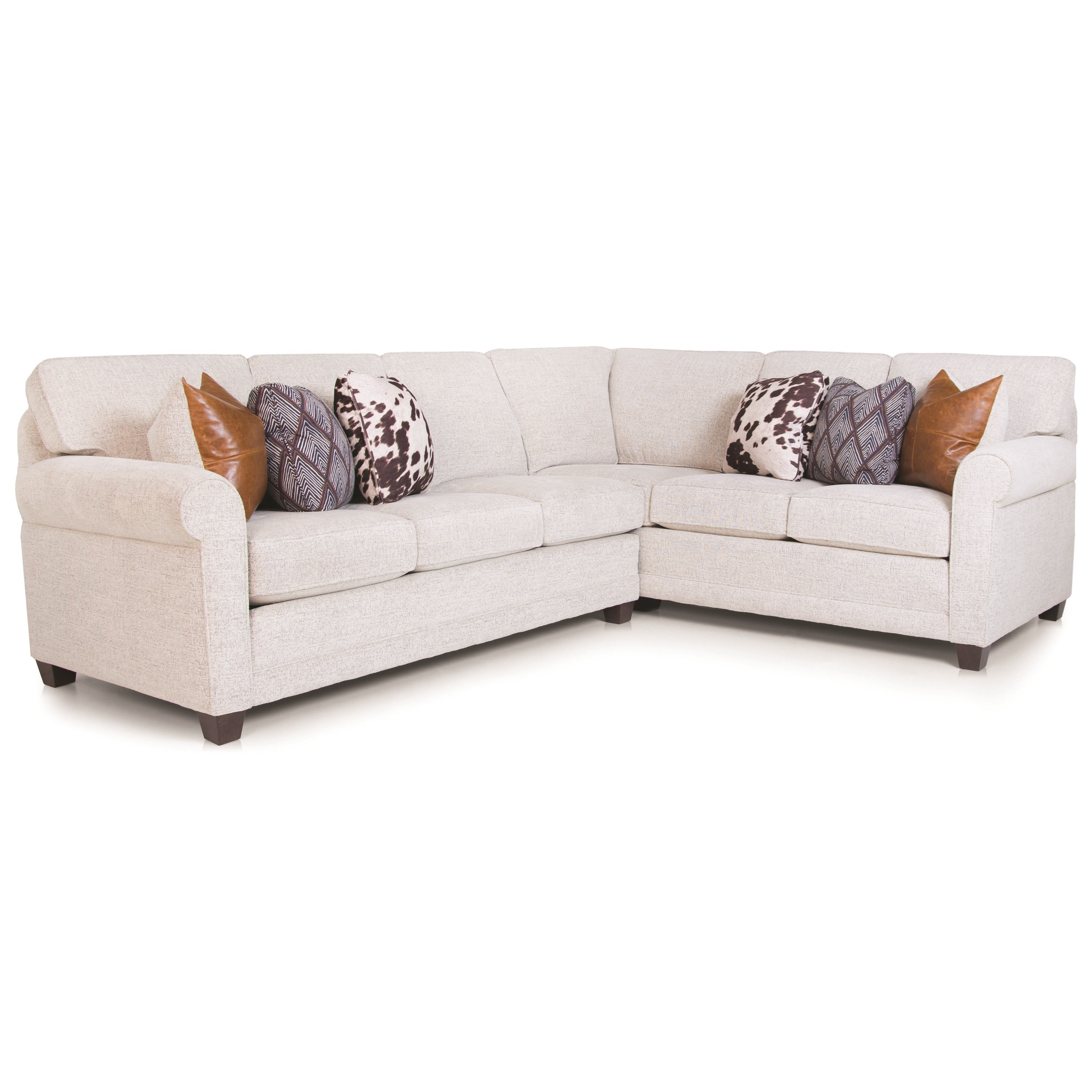 366 2-pc Sectional by Smith Brothers at Saugerties Furniture Mart