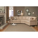 Smith Brothers 366 3-pc Sectional - Item Number: 366-24+53+25-Tan