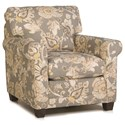 Smith Brothers 366 Stationary Chair - Item Number: 366-30-Gray Floral