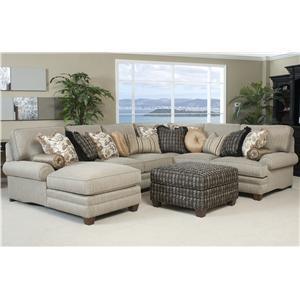 Smith Brothers 375 Traditional Styled Sectional Sofa