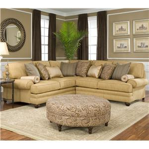 Smith Brothers 376  Corner Sectional Sofa