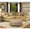 Smith Brothers 376  Corner Sectional Sofa - Item Number: 376 Sect II