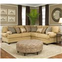 Smith Brothers 376  Corner Sectional Sofa - Item Number: 376 Sect