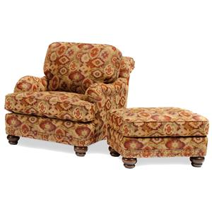 Smith Brothers 386 Chair and Ottoman