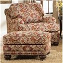 Peter Lorentz 386 Traditional Ottoman with Nailhead Trim - Shown with Chair