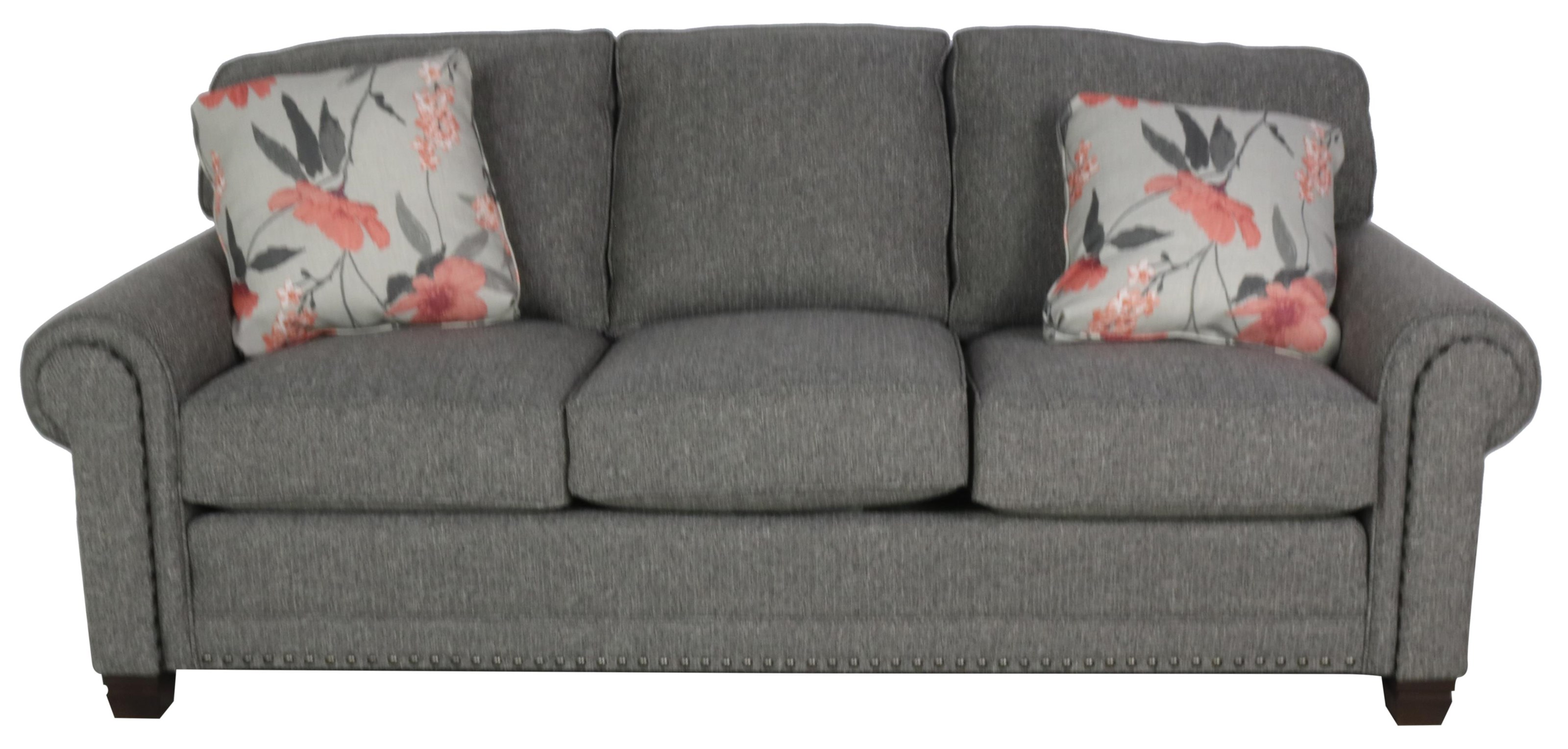393 Traditional Stationary Sofa by Smith Brothers at Sprintz Furniture